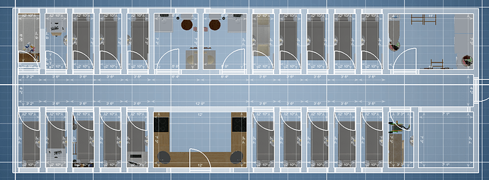 apartment floor blueprints